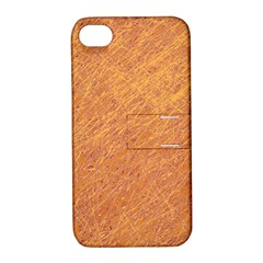Orange Pattern Apple Iphone 4/4s Hardshell Case With Stand by Valentinaart