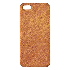 Orange Pattern Apple Iphone 5 Premium Hardshell Case by Valentinaart