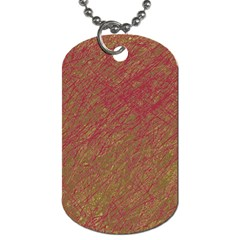 Brown Pattern Dog Tag (one Side) by Valentinaart