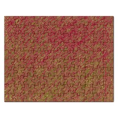 Brown Pattern Rectangular Jigsaw Puzzl by Valentinaart