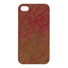 Brown Pattern Apple Iphone 4/4s Premium Hardshell Case by Valentinaart