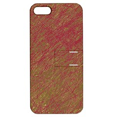 Brown Pattern Apple Iphone 5 Hardshell Case With Stand by Valentinaart