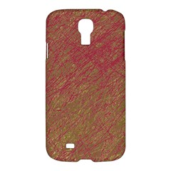 Brown Pattern Samsung Galaxy S4 I9500/i9505 Hardshell Case by Valentinaart