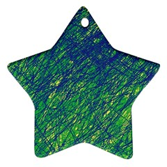 Green Pattern Ornament (star)  by Valentinaart