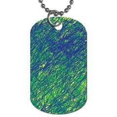 Green Pattern Dog Tag (one Side) by Valentinaart