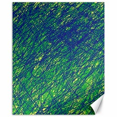 Green Pattern Canvas 16  X 20   by Valentinaart