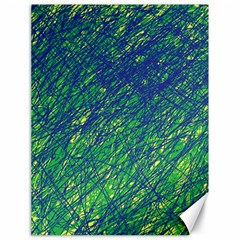 Green Pattern Canvas 18  X 24   by Valentinaart