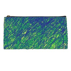 Green Pattern Pencil Cases by Valentinaart