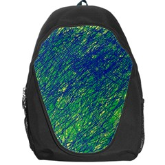 Green Pattern Backpack Bag by Valentinaart