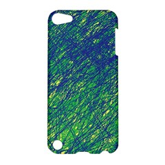 Green Pattern Apple Ipod Touch 5 Hardshell Case by Valentinaart