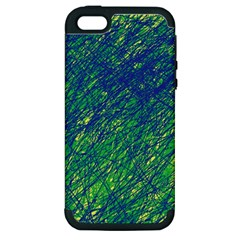 Green Pattern Apple Iphone 5 Hardshell Case (pc+silicone) by Valentinaart
