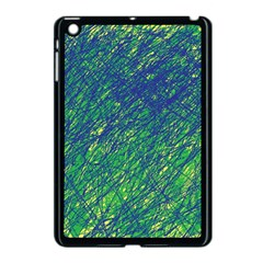 Green Pattern Apple Ipad Mini Case (black) by Valentinaart