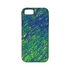 Green Pattern Apple Iphone 5 Classic Hardshell Case (pc+silicone) by Valentinaart