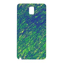 Green Pattern Samsung Galaxy Note 3 N9005 Hardshell Back Case by Valentinaart