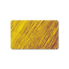 Yellow Van Gogh Pattern Magnet (name Card) by Valentinaart