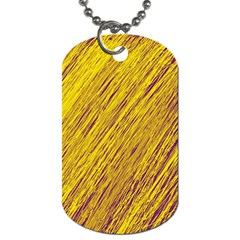 Yellow Van Gogh Pattern Dog Tag (one Side) by Valentinaart