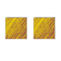 Yellow Van Gogh Pattern Cufflinks (square) by Valentinaart