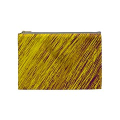 Yellow Van Gogh Pattern Cosmetic Bag (medium)  by Valentinaart