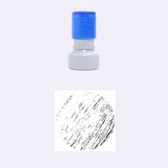 Yellow Van Gogh Pattern Rubber Round Stamps (small)
