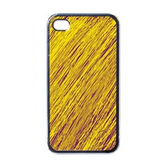 Yellow Van Gogh Pattern Apple Iphone 4 Case (black) by Valentinaart