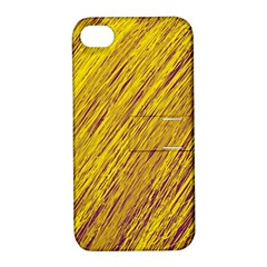 Yellow Van Gogh Pattern Apple Iphone 4/4s Hardshell Case With Stand by Valentinaart