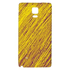 Yellow Van Gogh Pattern Galaxy Note 4 Back Case by Valentinaart
