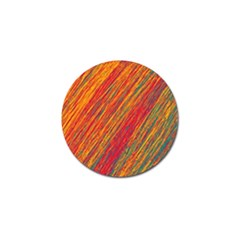Orange Van Gogh Pattern Golf Ball Marker (10 Pack) by Valentinaart