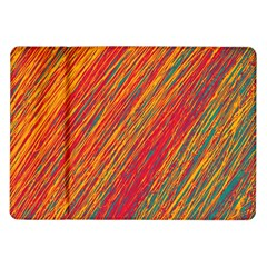 Orange Van Gogh Pattern Samsung Galaxy Tab 10 1  P7500 Flip Case by Valentinaart