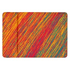 Orange Van Gogh Pattern Samsung Galaxy Tab 8 9  P7300 Flip Case by Valentinaart