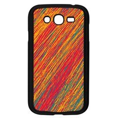Orange Van Gogh Pattern Samsung Galaxy Grand Duos I9082 Case (black)