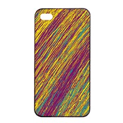 Yellow, Purple And Green Van Gogh Pattern Apple Iphone 4/4s Seamless Case (black) by Valentinaart
