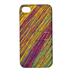 Yellow, Purple And Green Van Gogh Pattern Apple Iphone 4/4s Hardshell Case With Stand by Valentinaart