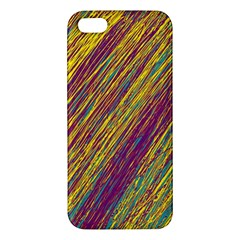 Yellow, Purple And Green Van Gogh Pattern Apple Iphone 5 Premium Hardshell Case by Valentinaart