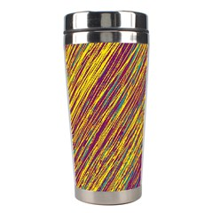 Yellow, Purple And Green Van Gogh Pattern Stainless Steel Travel Tumblers by Valentinaart