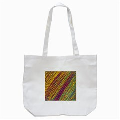 Yellow, Purple And Green Van Gogh Pattern Tote Bag (white) by Valentinaart