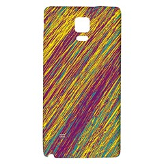 Yellow, Purple And Green Van Gogh Pattern Galaxy Note 4 Back Case by Valentinaart