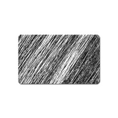 Black And White Decorative Pattern Magnet (name Card) by Valentinaart