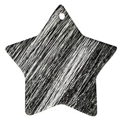 Black And White Decorative Pattern Star Ornament (two Sides)  by Valentinaart