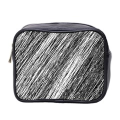 Black And White Decorative Pattern Mini Toiletries Bag 2 Side by Valentinaart