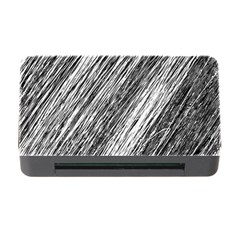 Black And White Decorative Pattern Memory Card Reader With Cf by Valentinaart