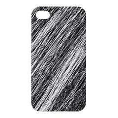 Black And White Decorative Pattern Apple Iphone 4/4s Hardshell Case by Valentinaart