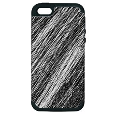 Black And White Decorative Pattern Apple Iphone 5 Hardshell Case (pc+silicone) by Valentinaart