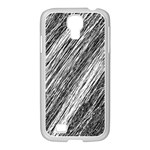 Black and White decorative pattern Samsung GALAXY S4 I9500/ I9505 Case (White) Front