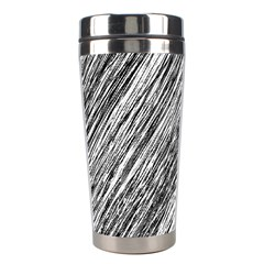 Black And White Decorative Pattern Stainless Steel Travel Tumblers