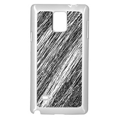 Black And White Decorative Pattern Samsung Galaxy Note 4 Case (white) by Valentinaart