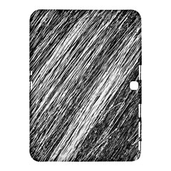 Black And White Decorative Pattern Samsung Galaxy Tab 4 (10 1 ) Hardshell Case  by Valentinaart