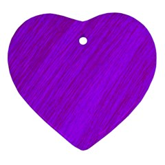 Purple Pattern Ornament (heart)  by Valentinaart