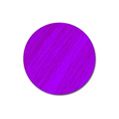 Purple Pattern Magnet 3  (round) by Valentinaart