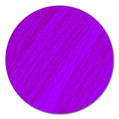 Purple Pattern Magnet 5  (round) by Valentinaart