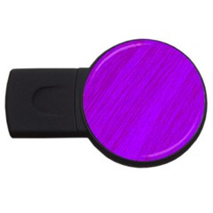 Purple Pattern Usb Flash Drive Round (2 Gb)  by Valentinaart